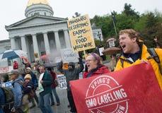 Anti-Monsanto protestation Image stock