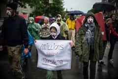 Anti-Monsanto protestation Photo stock