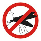 Anti mosquito sign with a funny cartoon mosquito.. Anti mosquito sign with a funny cartoon mosquito Stock Photo