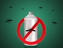 Anti mosquito spray Royalty Free Stock Images