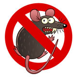 Anti mouse sign Royalty Free Stock Images