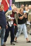 Anti-muslim demonstration Royalty Free Stock Photos