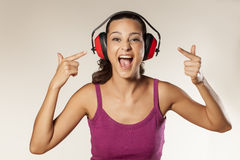 Anti-noise headset Stock Photos