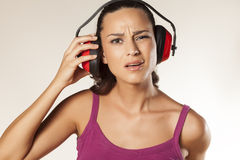 Anti-noise headset Stock Images