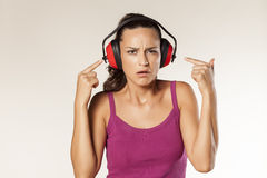 Anti-noise headset Stock Photo