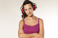 Anti-noise headset Royalty Free Stock Image
