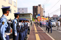 Anti-nucleaire Protesten in Japan stock afbeelding