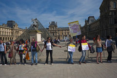 Anti-Nuclear Energy Demonstration, Paris Stock Image