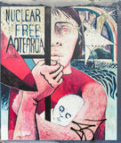 Anti nuclear mural in Auckland. Royalty Free Stock Image