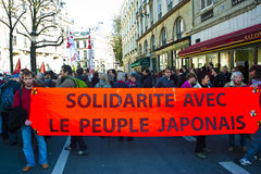 Anti-Nuclear Power Demonstration, Paris Royalty Free Stock Images