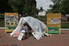 Anti-nuclear protest near the White house Stock Image