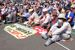 Anti-Nuclear Protests in Japan. Anti-Nuclear Protests in Fukushima, Japan Stock Image