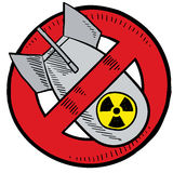 Anti-nuclear vector Royalty Free Stock Photography