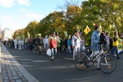 Anti nuclear waste manifestation Royalty Free Stock Image