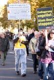 Anti nuclear waste manifestation Stock Image