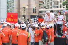 Anti-occupez le rassemblement de mouvement en Hong Kong Images libres de droits
