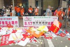 Anti-occupez le rassemblement de mouvement en Hong Kong Images stock