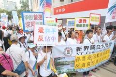 Anti-occupi il raduno del movimento in Hong Kong Immagine Stock Libera da Diritti