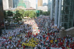 Anti-Occupy Movement Rally in Hong Kong. The anti-Occupy campaign had achieved something Beijing has been unable to do so in recent years - rallying the divided royalty free stock photography