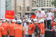 Anti-Occupy Movement Rally in Hong Kong Royalty Free Stock Images