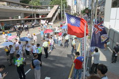 Anti-Occupy Movement Rally in Hong Kong Royalty Free Stock Photo