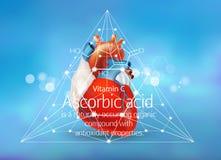 Anti-oxyderend ascorbinezuur, royalty-vrije illustratie