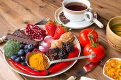 Anti-oxyderende maaltijd stock afbeelding