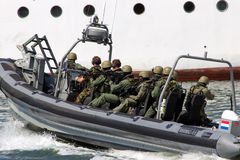 Anti piracy operation Stock Photography