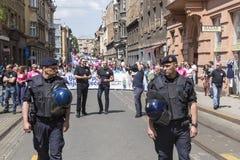 Anti police d'émeutes en Croatie Photographie stock
