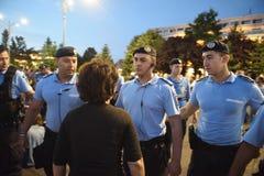 Anti-protest för domstol för överkant för Rumänien ` s, Bucharest, Rumänien - 30 Maj 20 royaltyfri foto