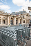 Anti-Protest fences near Conseil d'Etat - Council of State building Stock Photos