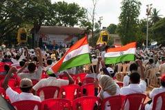 Anti protesta di corruzione in India Fotografia Stock Libera da Diritti
