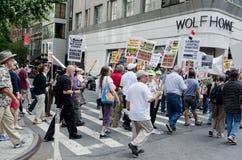 Anti protesta di guerra Fotografia Stock