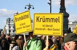 Anti protestation d'énergie nucléaire Allemagne 2011 Images stock
