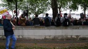 Anti protestation d'atout - Londres banque de vidéos