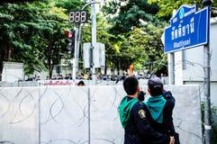 Anti protestation de gouvernement de la Thaïlande Image libre de droits
