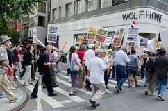 Anti protestation de guerre Photographie stock