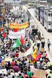 Anti proteste del Giappone a Hong Kong Fotografie Stock