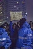 Anti proteste di corruzione a Bucarest il 22 gennaio 2017 Immagini Stock Libere da Diritti