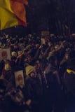 Anti proteste di corruzione a Bucarest il 22 gennaio 2017 Fotografia Stock Libera da Diritti