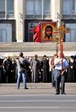 Anti protesto adventista em Moldova, Europa Fotografia de Stock