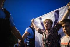 Anti protesto da corte da parte superior do ` s de Romênia, Bucareste, Romênia - 30 de maio de 20 imagem de stock