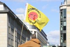 Anti protesto da energia nuclear Alemanha 2011 imagem de stock