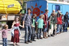 Anti protesto nuclear Alemanha 2010 Foto de Stock
