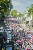 Anti - protesto tailandês do governo  imagens de stock