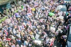 Anti - protesto tailandês do governo  fotografia de stock