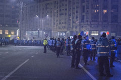 Anti protestos da corrupção em Bucareste o 22 de janeiro de 2017 Foto de Stock Royalty Free