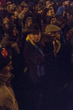Anti protestos da corrupção em Bucareste o 22 de janeiro de 2017 Imagens de Stock Royalty Free