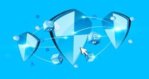 Anti protezione dello schermo del virus Immagini Stock Libere da Diritti