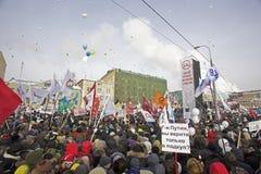 anti putin för marschmoscow personer som protesterar Fotografering för Bildbyråer